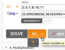 solved variable